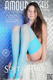 Brunette in blue lace
