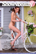nude model bicycle