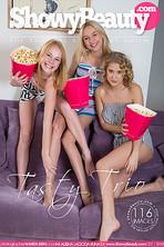 Sexy lesbian trio