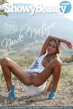 Slim sport girl in nature